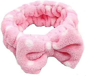HENGSONG Bowknot Stirnband Haarband Haar Wrap für Make-up Gesichtsreinigung Gesichtspflege