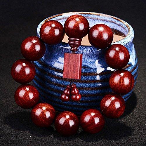 ZH Lobular Palisander Perlen Armbänder Parkett handgefertigte alte Rosenholz Herren Armband Holzperlen Schmuck,13,Einheitsgröße