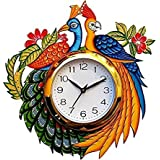 Divyacraft Wooden Wall Clock For Home Latest Design For Living Room Decorative Wall Clock 12x12 Inch (Multicolour)