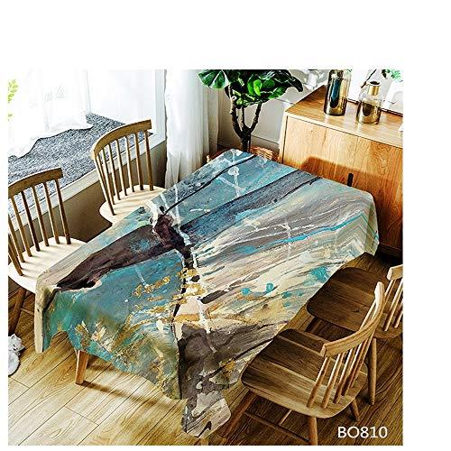 QWEASDZX Waschtischdecke Einfache und Moderne Polyester-Antifouling-Tischdecke Ölbeständig Rechteckige Tischdecke Geeignet für Innen und Außen Waschbare Anti-Fleck-Tischdecke 140x140cm