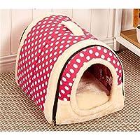 Iglú/sofá 2 en 1 para mascotas, diseño acolchado muy cálido ...
