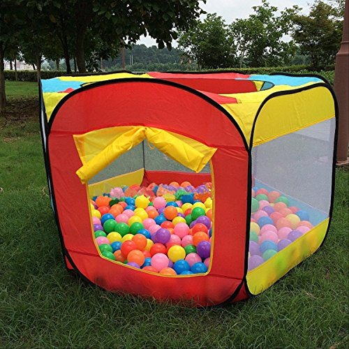 lebad Kinder Ball Pit Bällepool Playzelt Indoor Outdoor spielzelt Wasserdichte Tuch Einfach Folding Hideaway Zelt (KEINE BÄLLE MIT DABEI) (Bällebad Zelt)