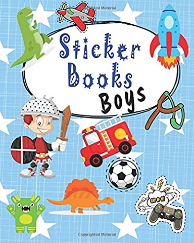 Sticker Books Boys: Blank Sticker Book, 8 x 10, 64 Pages