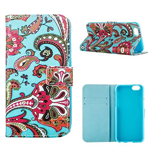 hyait® Case for iPhone 6 Plus/6S Plus (5,5) Flip Leather Wallet With Card Holder and Kickstand Case Cover RX30 RX14