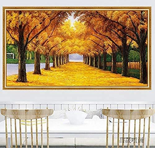 Applique Wandbild Dekoration 3D Simulation Gefälschte Fenster Dekorative Malerei Wand Linden Garten Landschaft Aufkleber 125X80 Cm Linden Wallpaper