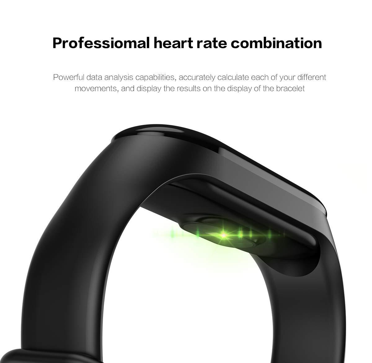 GULEHAY M3 Plus Smart Fitness Tracker, reloj de actividad impermeable con pantalla a color Monitor de ritmo cardíaco… 10