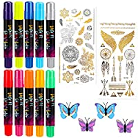 Hair Chalk, Nivlan Temporary Washable Hair Chalk Pens, Colored Hair Crayons Kit with Non-Toxic, for Cosplay, Halloween, Christmas, Birthday Present(10 Colors)