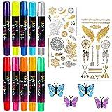 Colore Temporaneo Capelli, Nivlan 10 Colori Gesso di Capelli, Gessetti per Capelli Non Tossici Lavabili per Bambini, Adulti e Cosplay fai da te