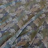 Unbekannt Stoff Baumwolle Jersey Meterware Tarndruck Camouflage Tarnstoffgrün grau