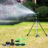 Pei Irrigatore Giardino Automatica Treppiede In Lega 360 °Rotante Irrigazione Da Giardino Spruzzatore A Lungo Raggio