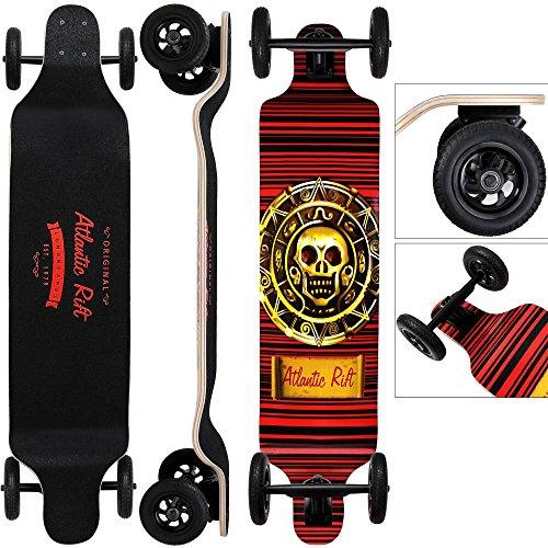 Longboard Offroad Drop-Down ABEC9 Funboard Ahornholz Atlantic Rift Skull Skateboard Montainboard Komplettboard Skater -