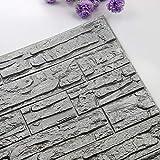 Hukz Wandpaneele Selbstklebend,60cmx30cm PE Schaum 3D Ziegelstein Tapete Wasserdicht Wandtattoo Anti-Kollision Wallpaper (P)
