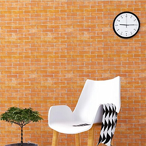 Zhzhco Verdickung Pvc Selbstklebend Tapeten Wandverdickung Mode Renoviert Garten Wallpaper 45Cm*10M