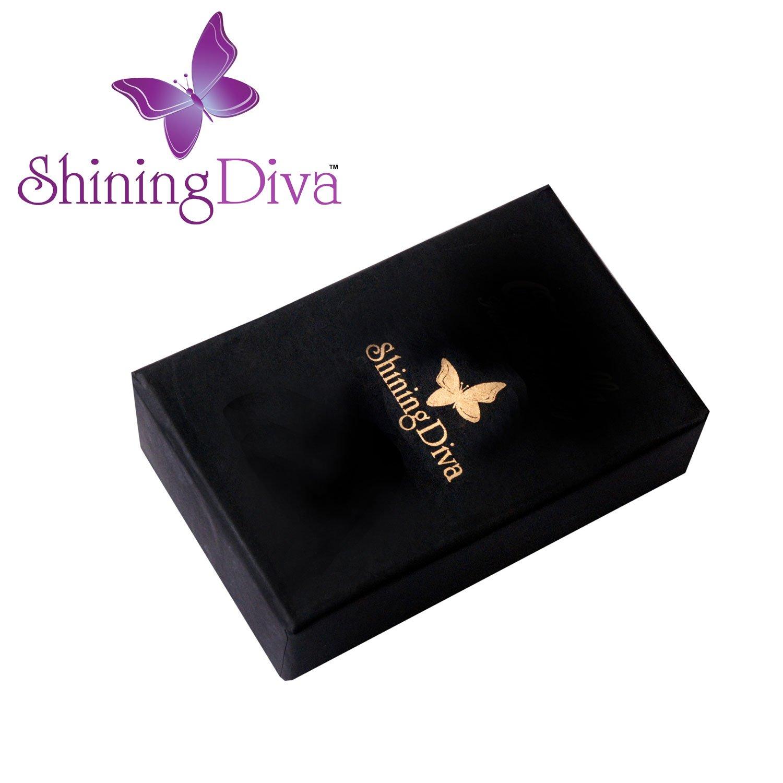 Buy Shining Diva Fashion Blue Crystal Stylish Fancy Party Wear ...