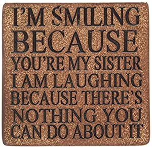 Boxer Gifts Coaster Smiling You're My Sister