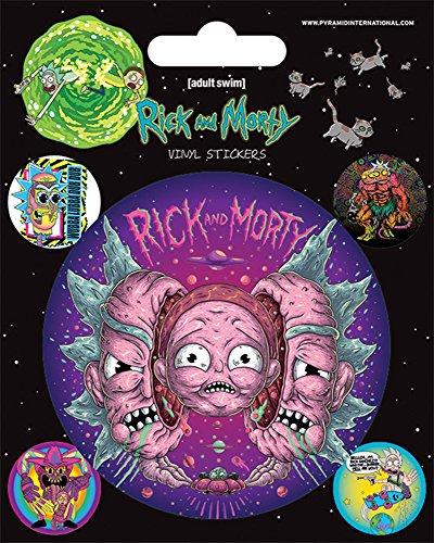 empireposter Rick and Morty - Psychedelic Visions - Film Kino Movie Stickerset Set mit 5 Sticker Aufkleber 10x12,5 cm