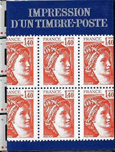 Impression d'un timbre-poste par télécommunications et télédiffusion (Ministère). Information et communication (Service). France. Postes