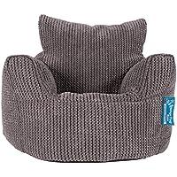 Preisvergleich für Lounge Pug®, Kindersessel Sitzsack, Sitzsack Kinder, Pom-Pom Anthrazit