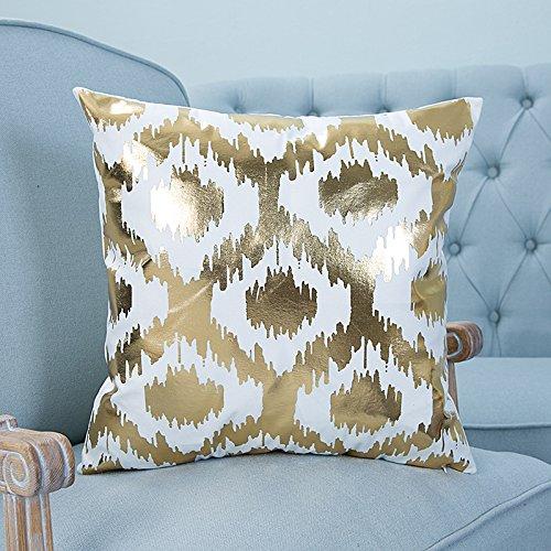 Lanlan Home Sofa Kissenbezüge Auto wieder Kissenbezug Luxus Bronzing, Baumwolle/Leinen dekorativen Kissenbezug (Euro Kissen Beautyrest)