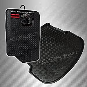 carmats4u To fit Focus HB 2005-2011 Fully Tailored PVC Boot Liner//Mat//Tray Black Carpet Insert