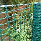 Warnzaun, Bauzaun, Absperrzaun Medium 140g/m², 1 x 50m, grün, zur Absicherung und Kennzeichnung von Baustellen, Gefahrenzonen, Loipen u.a.