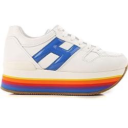 Hogan Maxi H222 Zapatillas zapatos sneaker sneakers shoes de Caucho para Mujer Woman Blanco White Size 37 EU