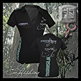 Hotspot Design Polo Shirt Carpfishing Woman, Gr. S, Angler Polo Hemd Für Damen, PL-01007S