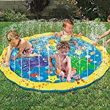 #10: Climberty Inflatable Water Spray Sprinkle and Splash Play Mat Outdoor Fun Toy for Children Kid Family Activities Hot Summer Swimming Party Beach Water Sprinkler Pad