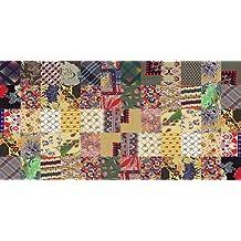 Printodecor 0002-657968937505 Alfombra Vinílica Impresa con Diseño Vintage, Multicolor, 97 x 48 cm