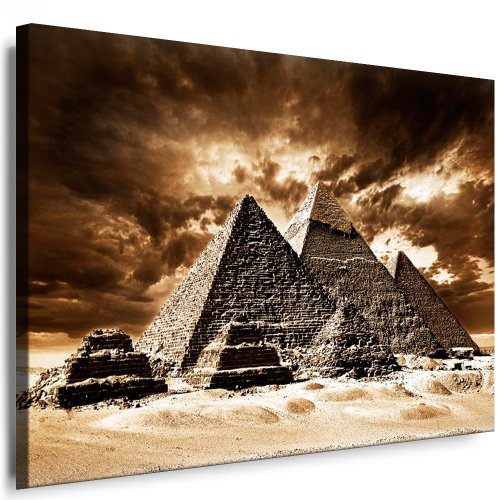 Pop-art-foto (Kunstdruck Ägypten Pyramiden Leinwandbild fertig auf Keilrahmen / Leinwandbilder, Wandbilder, Poster, Pop Art Gemälde, Kunst - Deko Bilder)