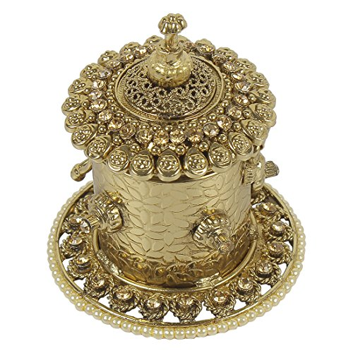 MUCH MORE Antique Design Gold Plated Sindoor Box for Women