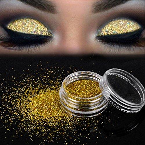Beauté Poudre Ombre à Paupières Rawdah Sparkly Makeup Glitter Poudre Libre Eyeshadow Silver Pigment d'Fard à Joues Fard à Paupières
