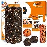 blackroll-orange ORANGE-BOX STANDARD - Faszienrolle, Massageball, Duoball Twinball-Orange und MINI Massagerolle als Selbstmassage Set in der ORANGE-BOX. Qualität Made in Germany.