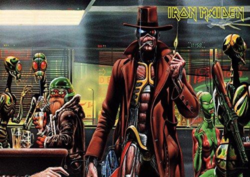 """Iron Maiden-17, grande, in metallo, motivo: Rock Music Band-Album per foto, formato A4, unico Print Poster """""""