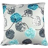 Hidoon azul gris de hojas de poliéster funda de cojín cuadrado de algodón cojín almohada funda para sofá 20 x 50,8 cm de tamaño estándar