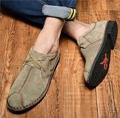 Loafer Plate Herren Größe Retro Eu Suede Fahrschuhe On Schuhe Pump 38 Logging Khaki British 44 Lässige Slip Leder Schnürsenkel xwqfPg