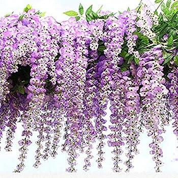 12pcs Lot Artificial 105CM Home Decor Wisteria Silk Flower Holiday Decoration Weddings Events Simulation