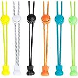 6 Paia Lacci per Scarpe Elastici, Leaptech@100cm lacci elastici per Adulti Lacci/Stringhe Elastici Autobloccanti per moltepli