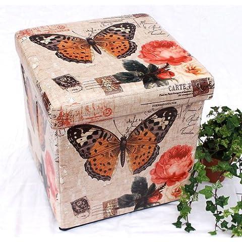 Sgabello in similpelle Seduta-sgabello 2218 Pacco d'imballaggio 40cm Cubo-seduta Cassa Cesto