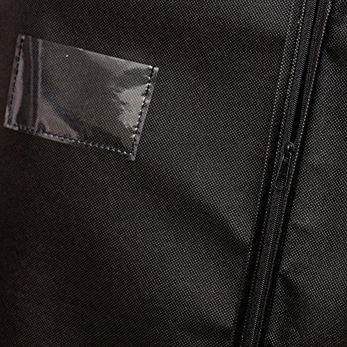 """ezihom 60""""transpirable para la ropa para equipaje, vestidos, lencería, ropa de almacenamiento o Viaje, Negro (no tejido traje prenda cubre"""