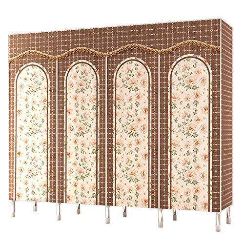BGROEST-HE Einfache Garderobe Tragbare Schlafzimmer-Möbel-Kleiderkammer-Vlies-Kleiderschrank-faltender Tuch-Speicher-Organisator Tragbarer Kleiderständer