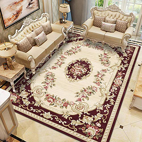 Thesaurus Teppich Fußmatte European Style Living Room Carpet Study Bedroom Bed Full Floor mat Sofa Coffee Table Door mat Home Printing Carpet, Europe -110_80*120cm