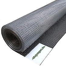 15m x 1m Rete per voliera, rete metallica, rete a maglie, rete saldata, recinzione metallica 12mm x 12mm