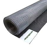 Aquagart® Volierendraht Hasendraht 80m x 1m, Drahtgitter Maschenweite 19mm, verzinkter Maschendraht-Zaun, robustes Schweißgitter