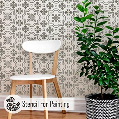 MARBELLA FLIESE Wand Möbel Fußboden Schablone für Malerei - - Viktorianische Malerei