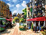 Diy oil painting, paint by number kits- Sunshine Town 16*20 inches.