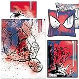 Spiderman Underground Housse de couette et coussin Toile et corail Couverture polaire Ensemble de chambre à coucher Bundle