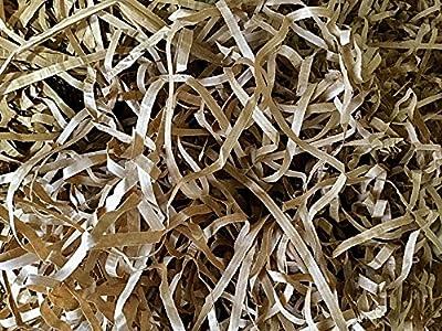Kraft Brown Ribbed Luxury Shredded Paper Shred Hamper Gift Box Basket Filler Fill Bedding Bulk (Box of 1kg)