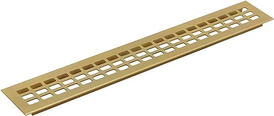 Lüftungsgitter Länge 400 mm, Breite 60 mm, Aluminium gold eloxiert