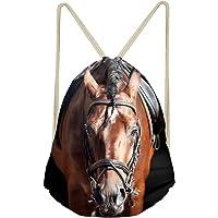 Coloranimal Zaino con chiusura tramite cordoncino, con favolosa stampa di cavallo pazzo in 3D, ideale per palestra…
